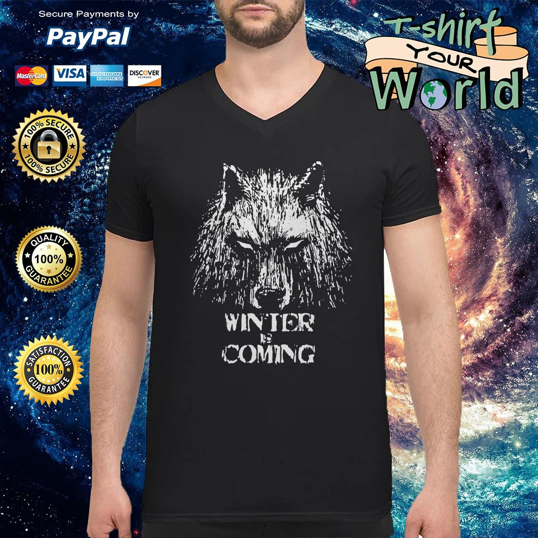 Winter is coming game of thrones V-neck t-shirt