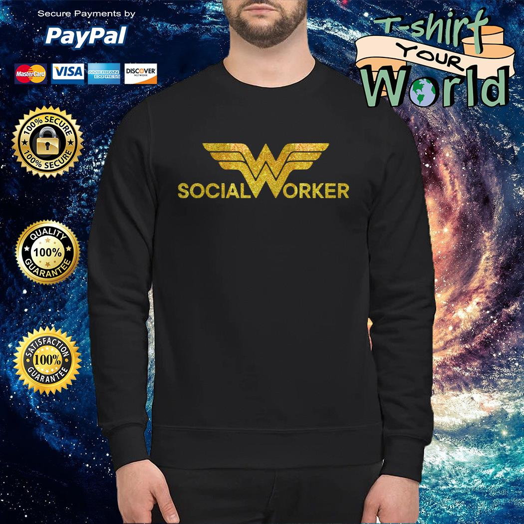 Wonder woman social worker Sweater