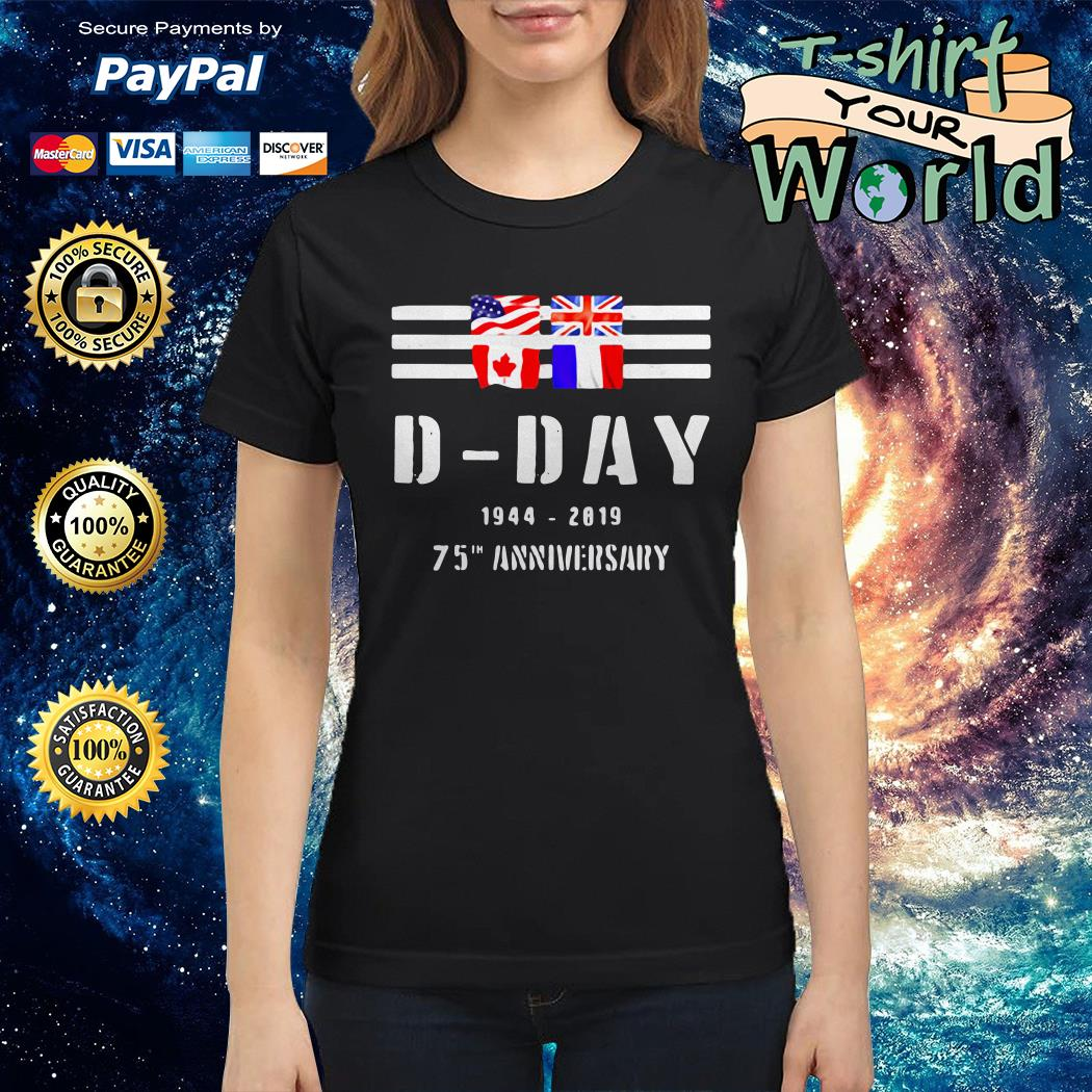 Wwii d-day 75th anniversary Ladies tee