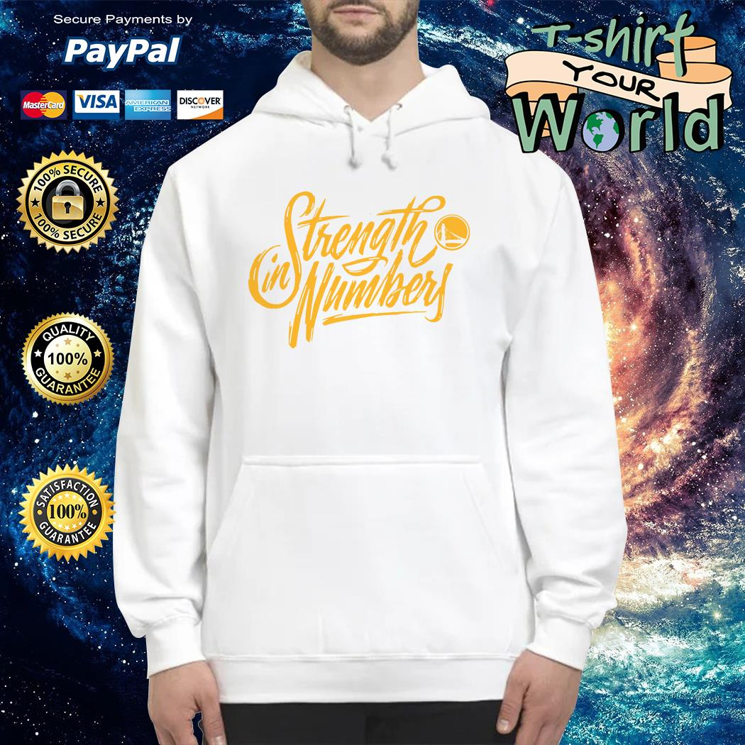 Yellow Strength in numbers warriors Hoodie