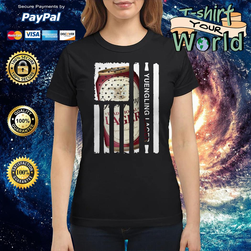 Yuengling Lager independence day american flag Ladies tee