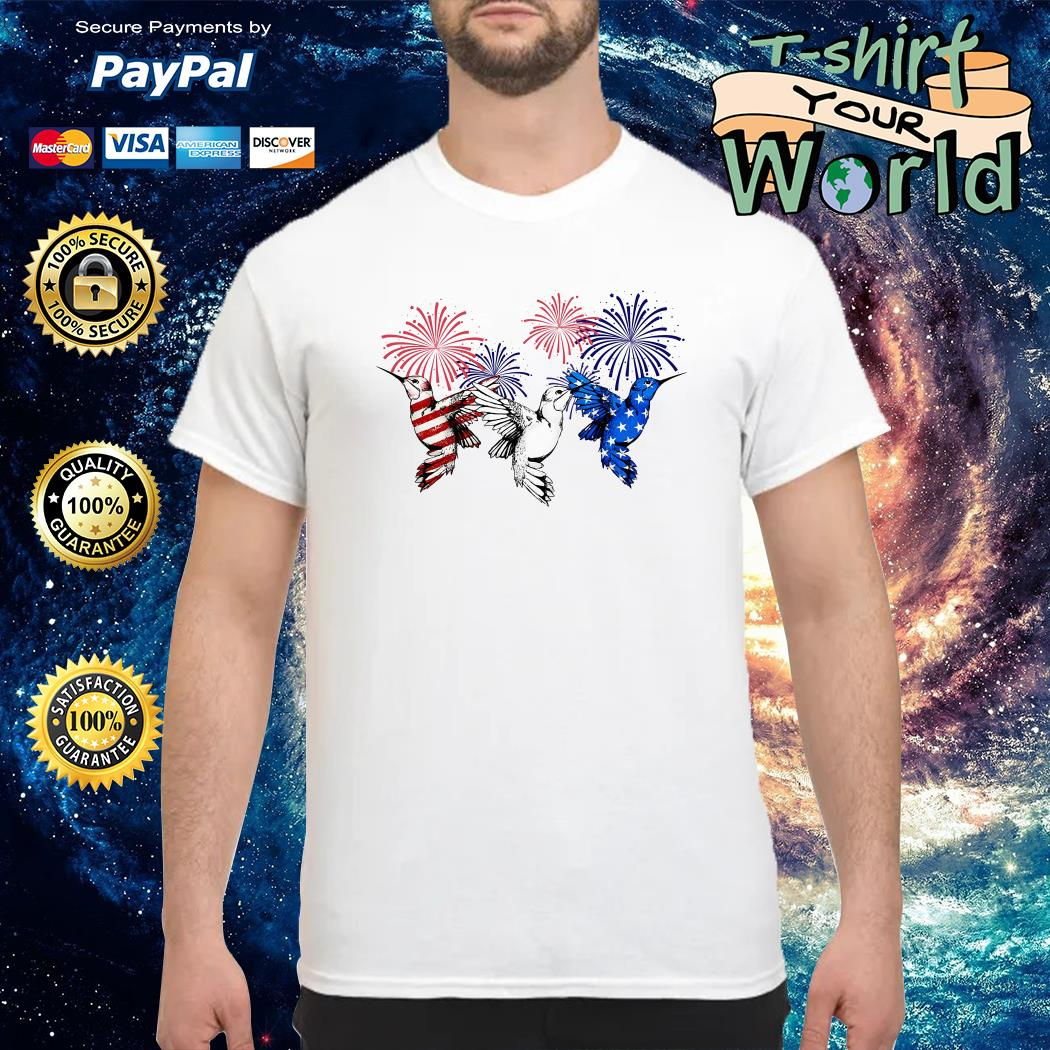 Birds red white and blue american flag shirt