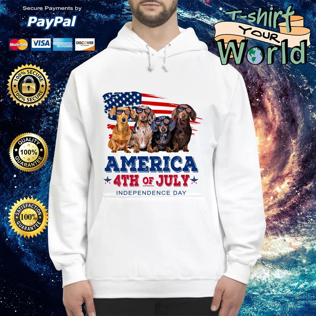 Dashmund american 4th of July independence Hoodie