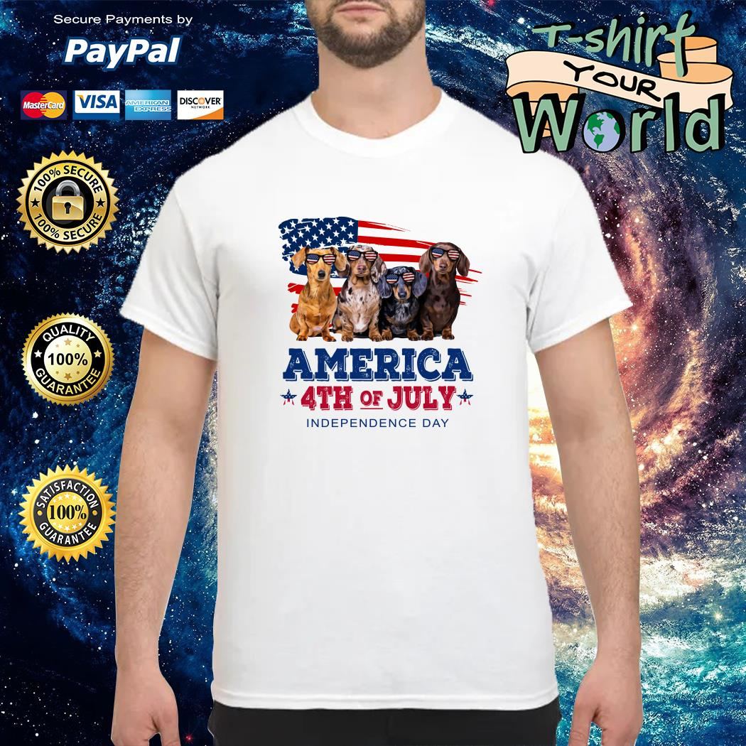 Dashmund american 4th of July independence shirt