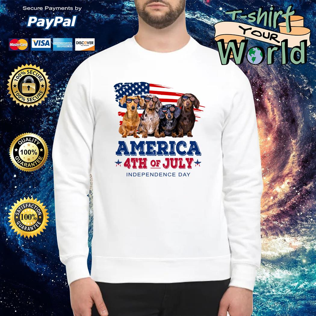 Dashmund american 4th of July independence Sweater