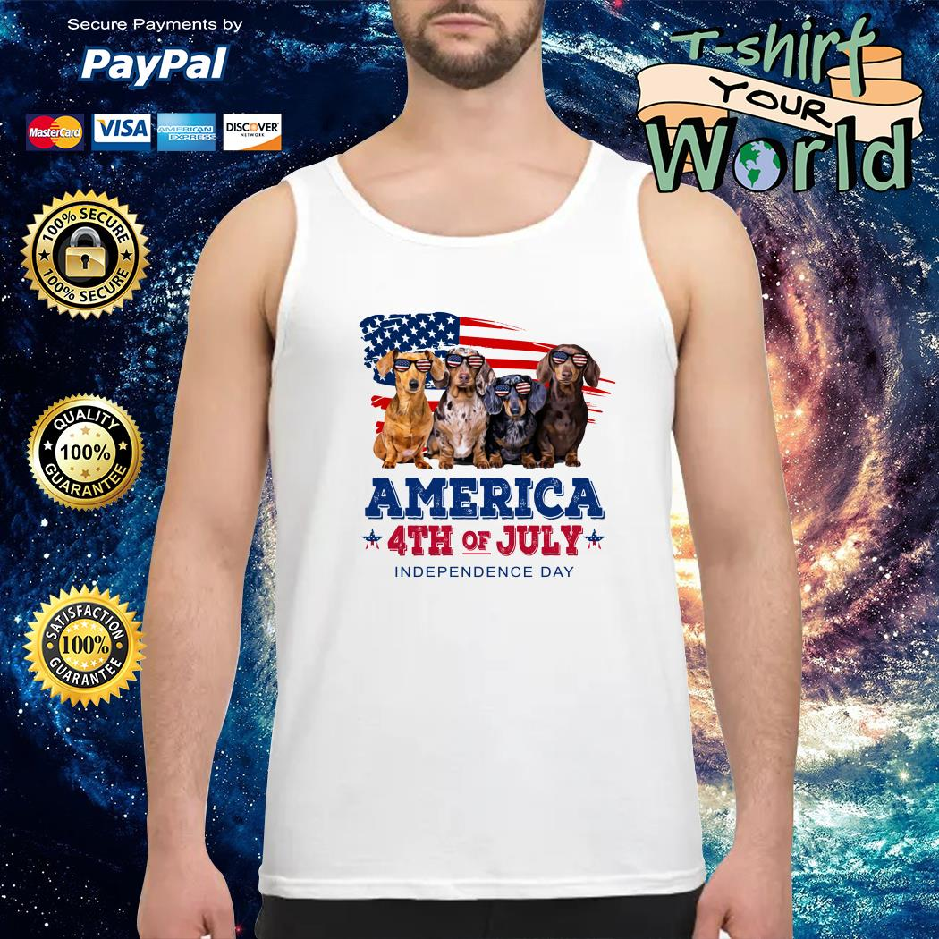 Dashmund american 4th of July independence Tank top
