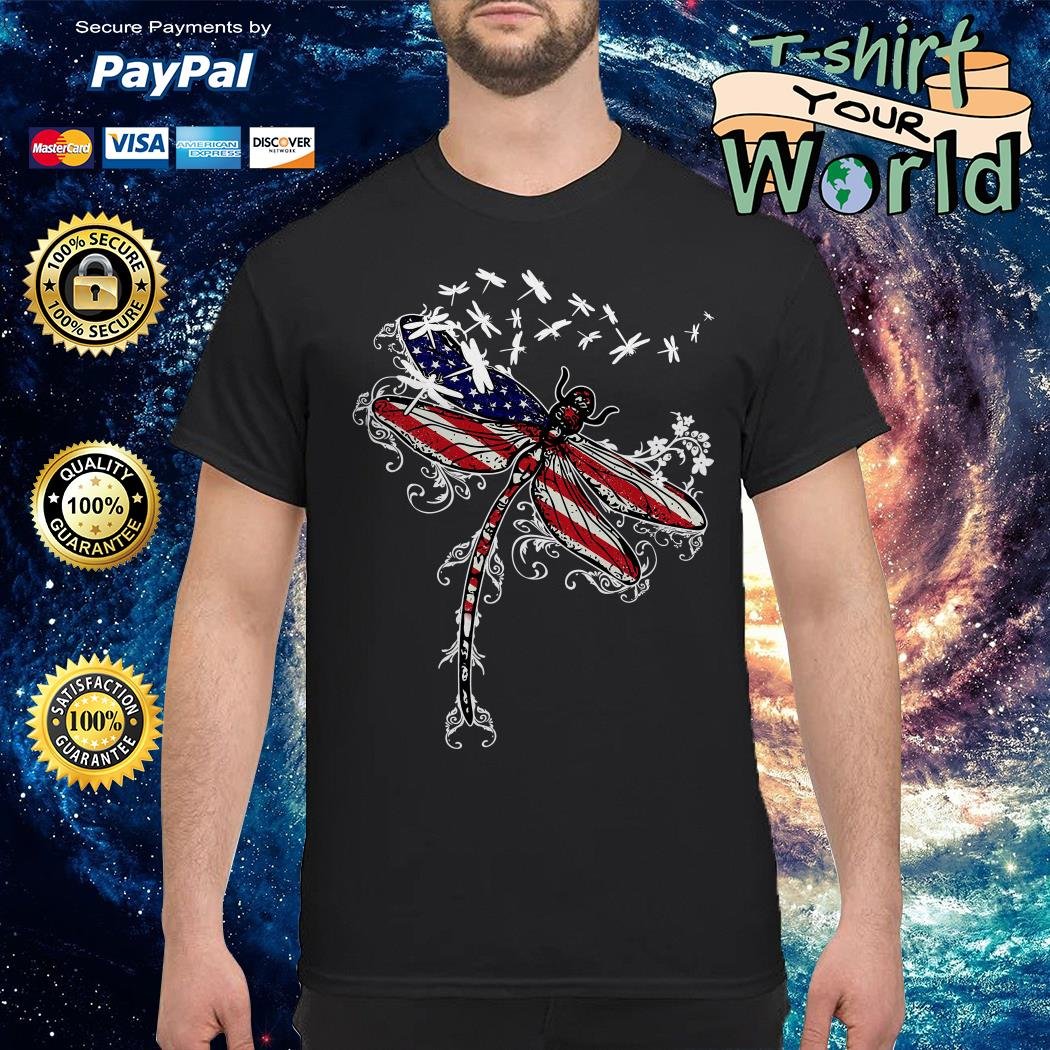Dragonfly 4th of July independence day shirt
