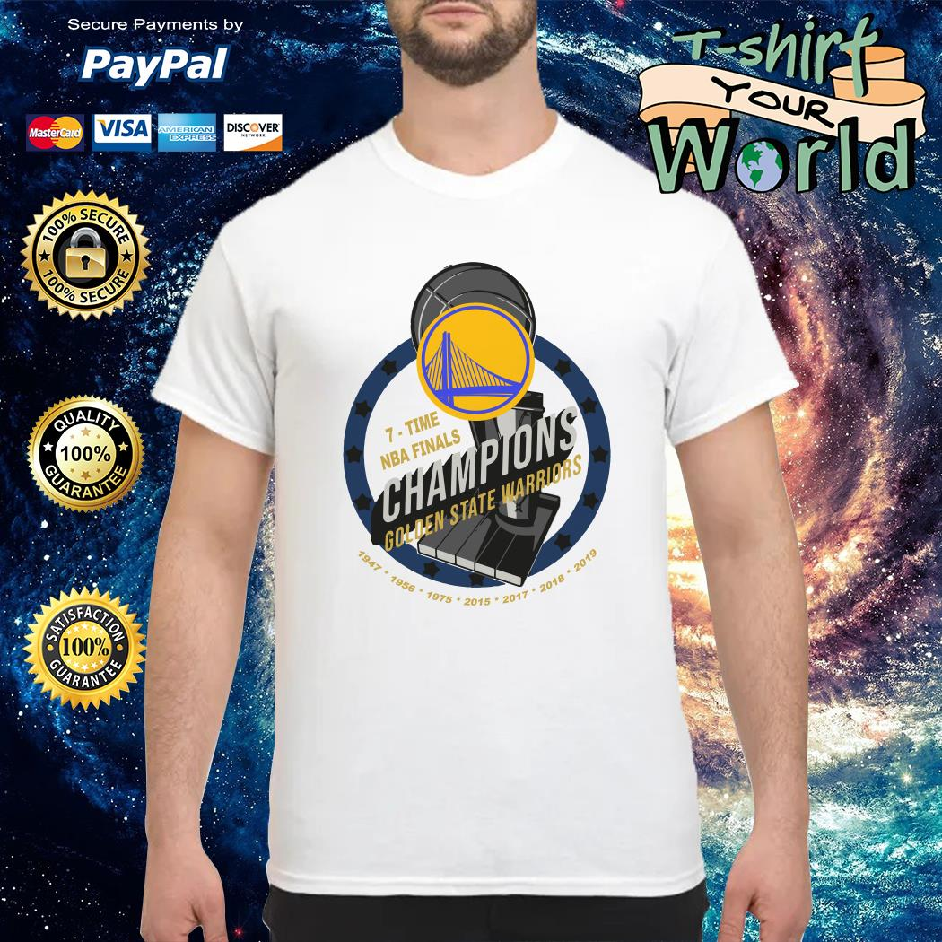 Golden state warriors 7 times NBA finals Champions NAB 2019 shirt