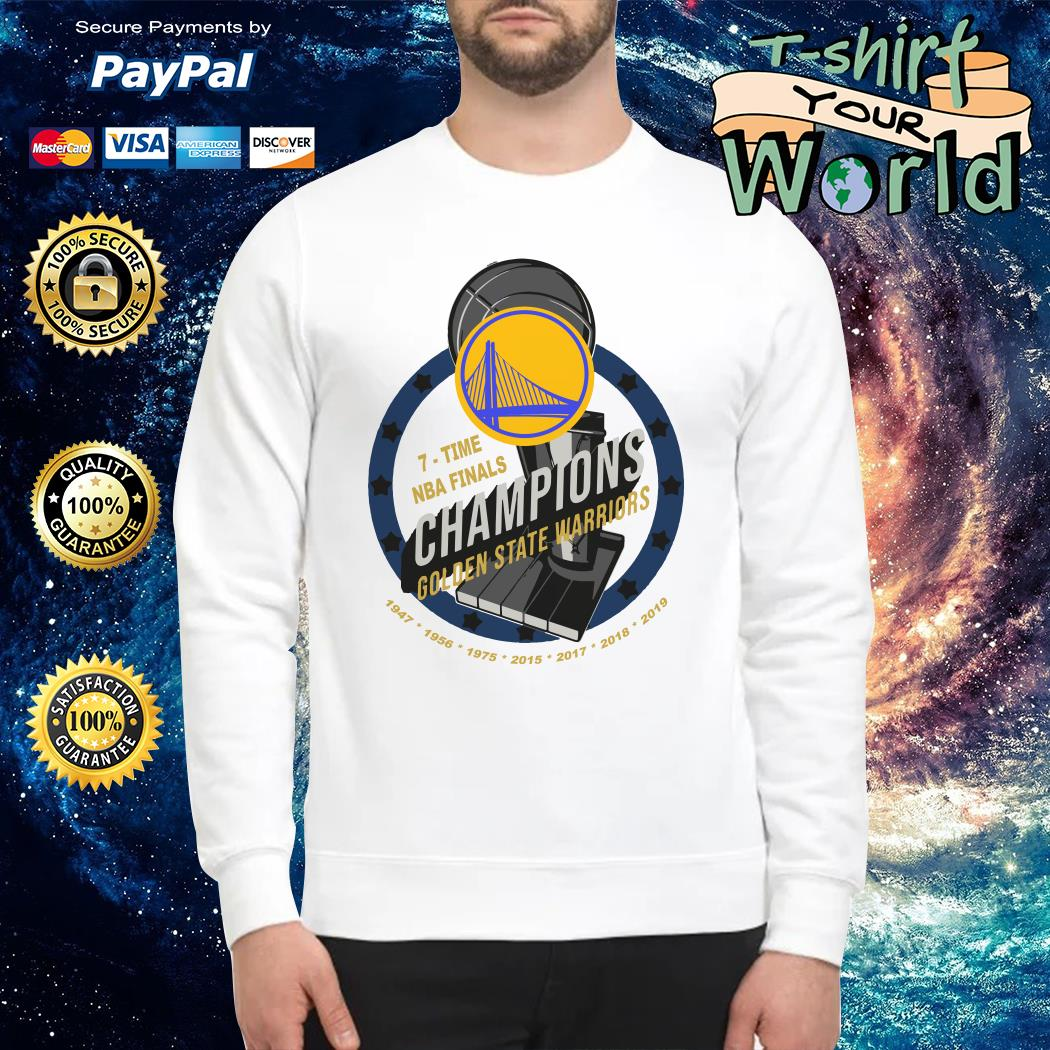 Golden state warriors 7 times NBA finals Champions NAB 2019 Sweater