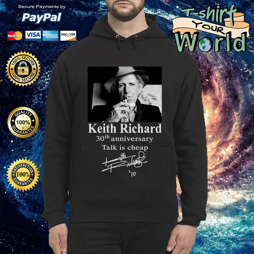 Keith Richard 30th anniversary Talk is cheap Hoodie