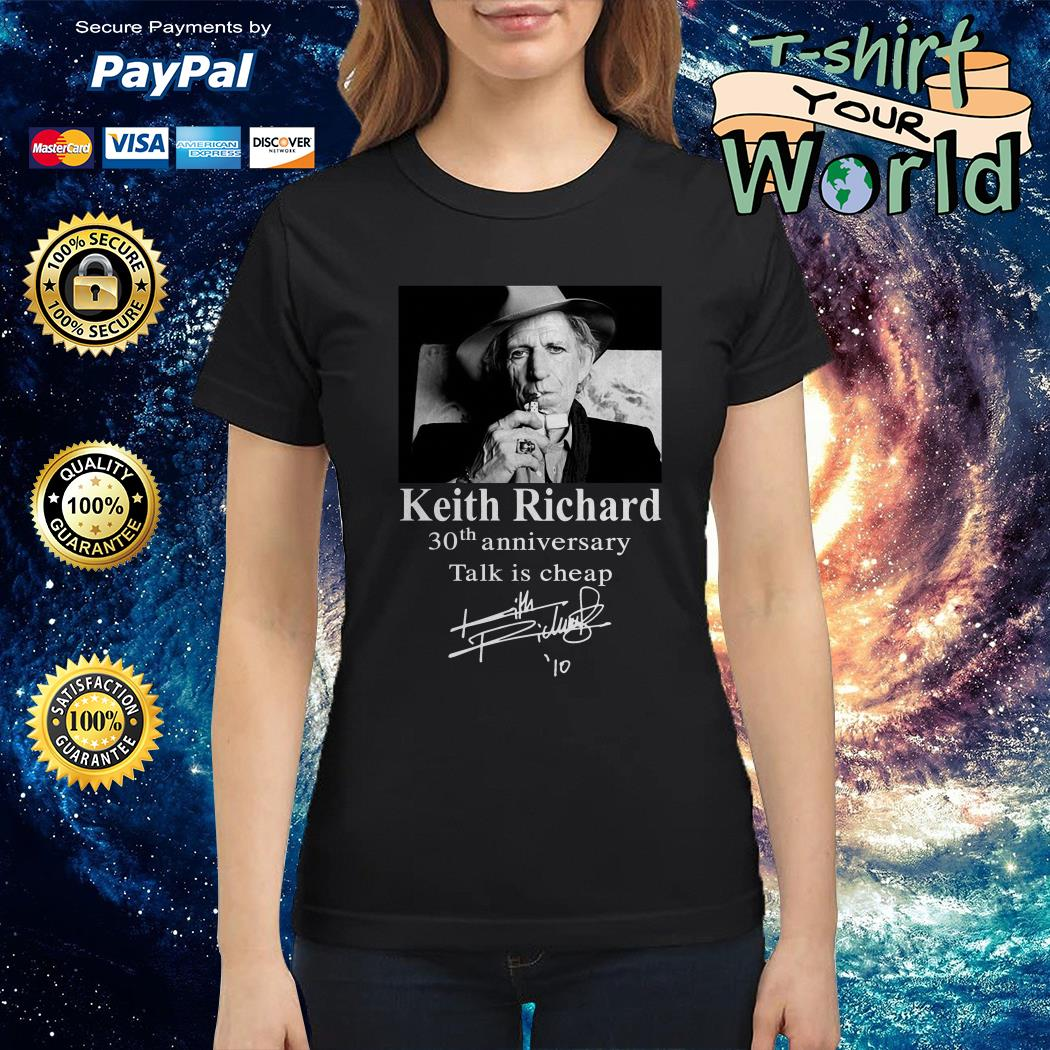 Keith Richard 30th anniversary Talk is cheap Ladies tee