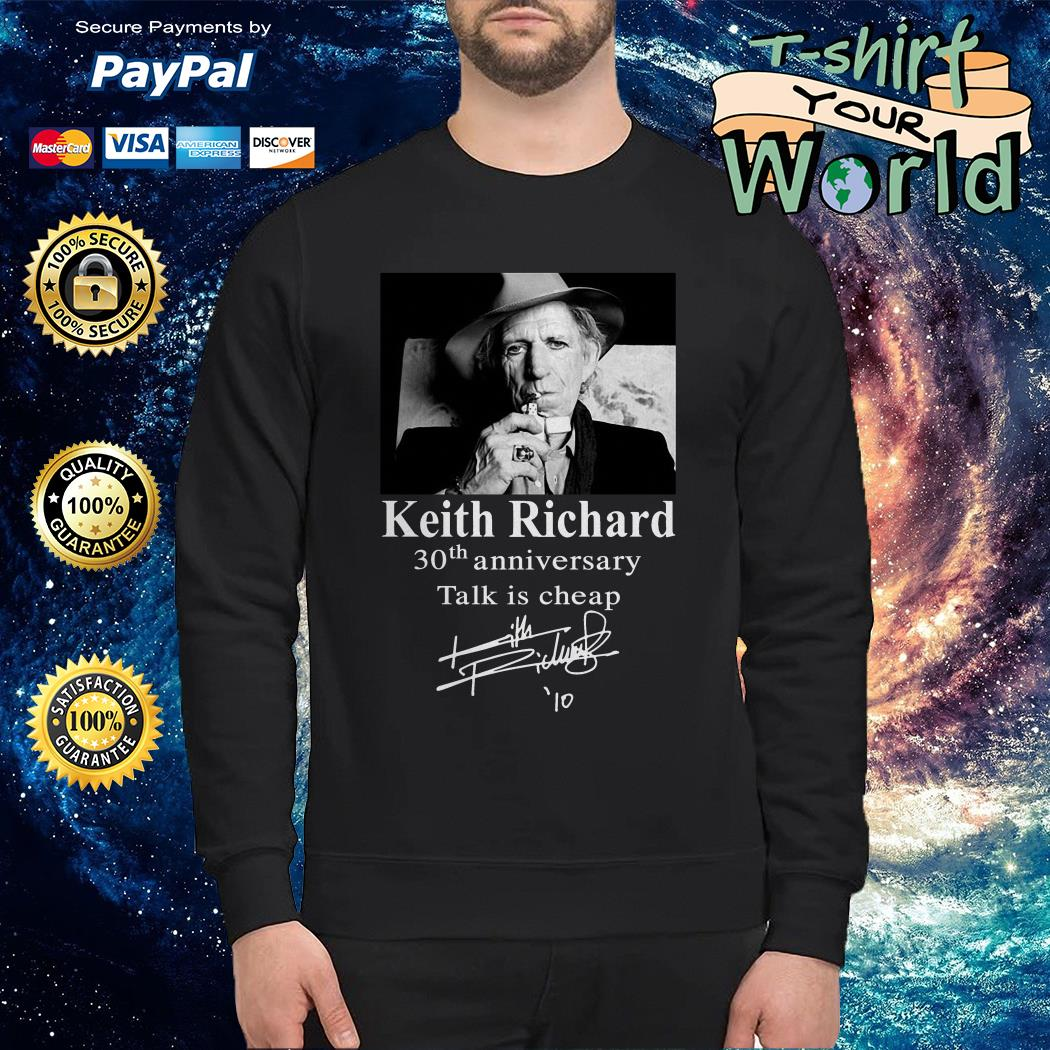Keith Richard 30th anniversary Talk is cheap Sweater
