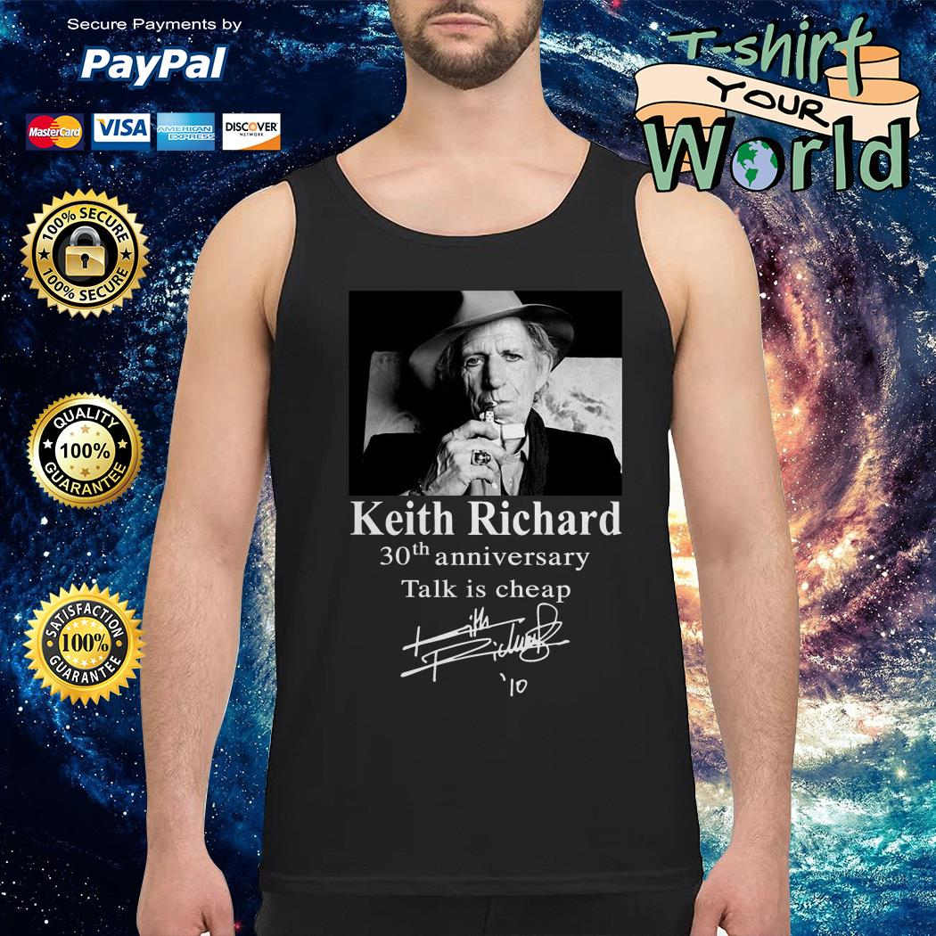 Keith Richard 30th anniversary Talk is cheap Tank top