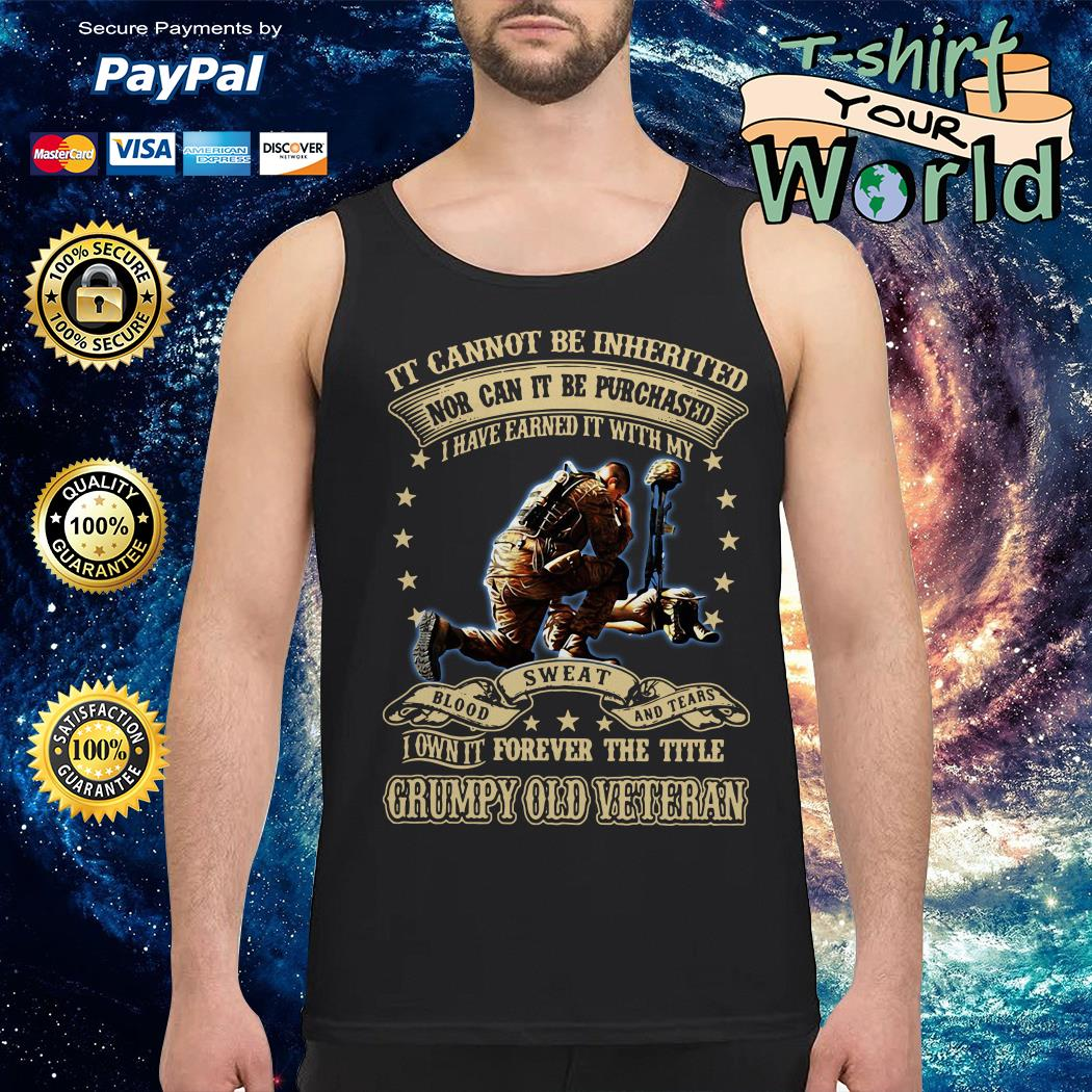 Not can it be Purchased forever the title Grumpy old Veteran Tank top
