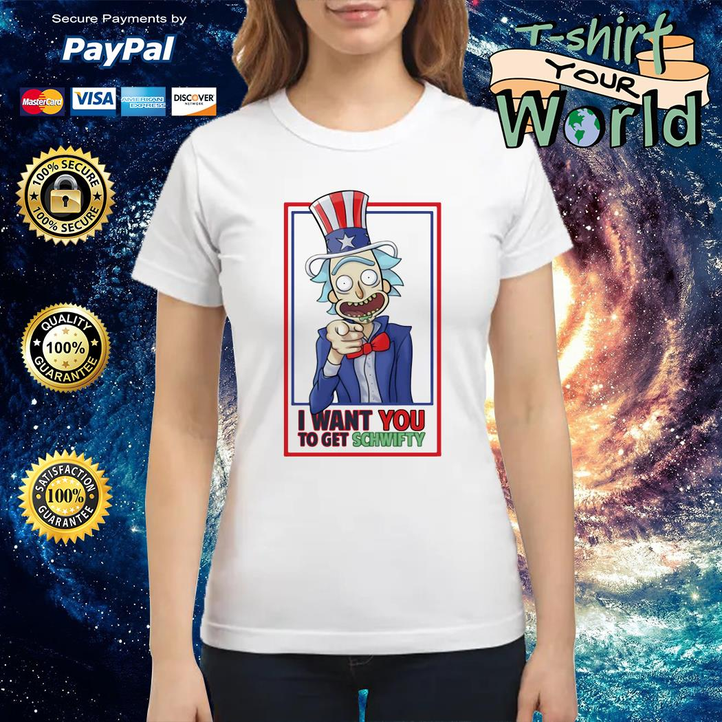 Uncle Rick I want You to get schwifty Ladies tee