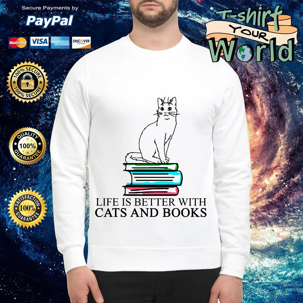 Book life is better with Cats and Books Sweater