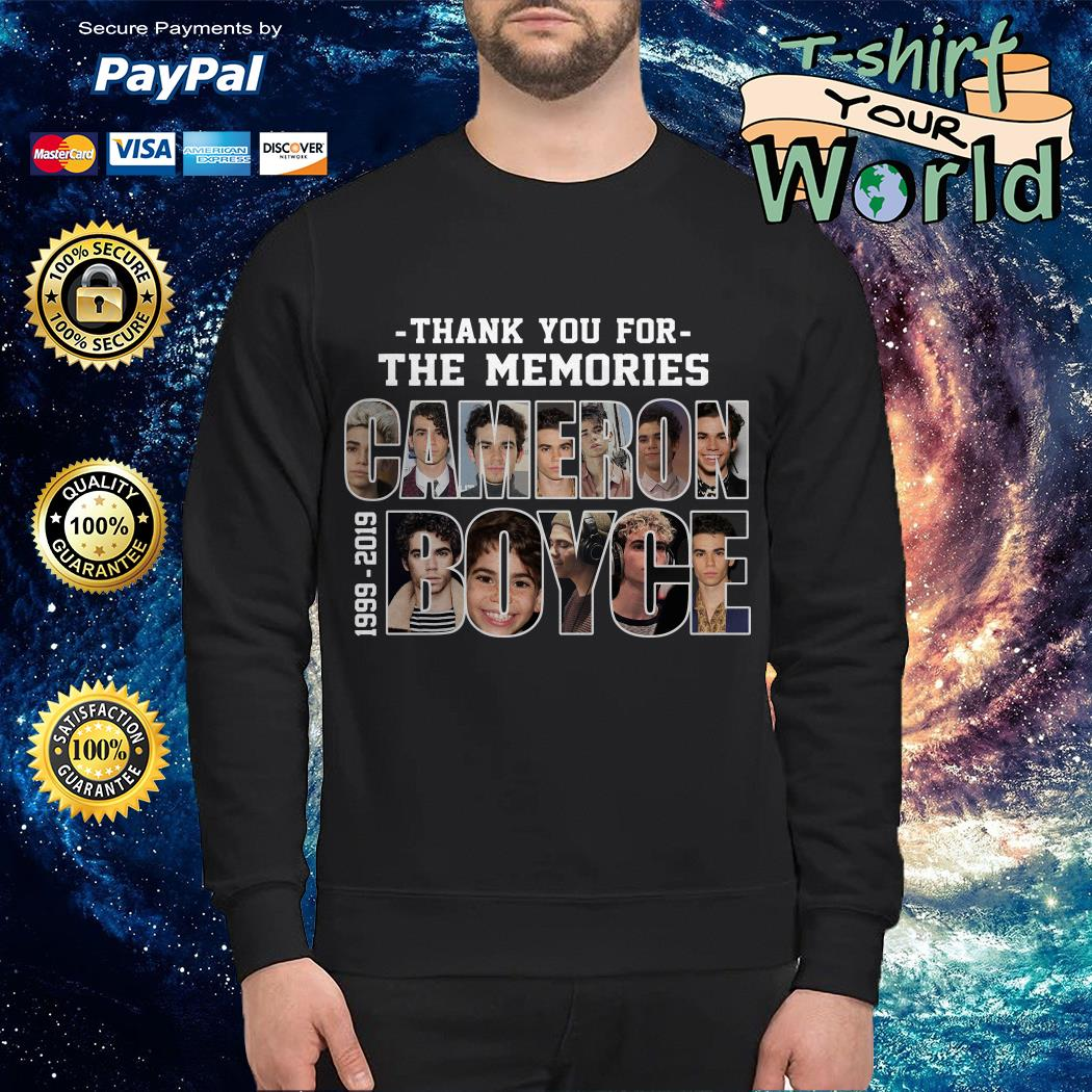 Cameron Boyce 1999-2019 thank you for the memories Sweater