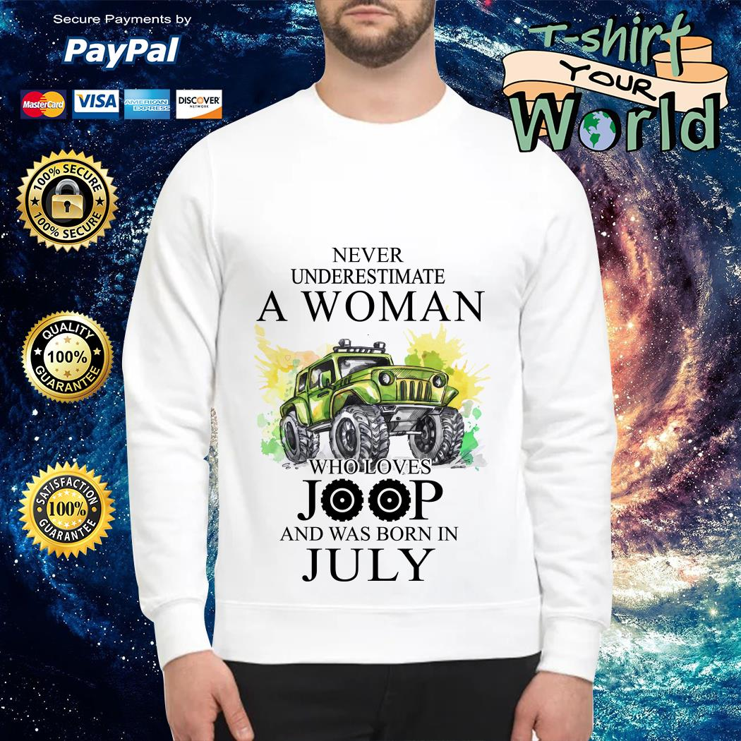 Never Underestimate a Woman Who lover Joop and was born in July Sweater