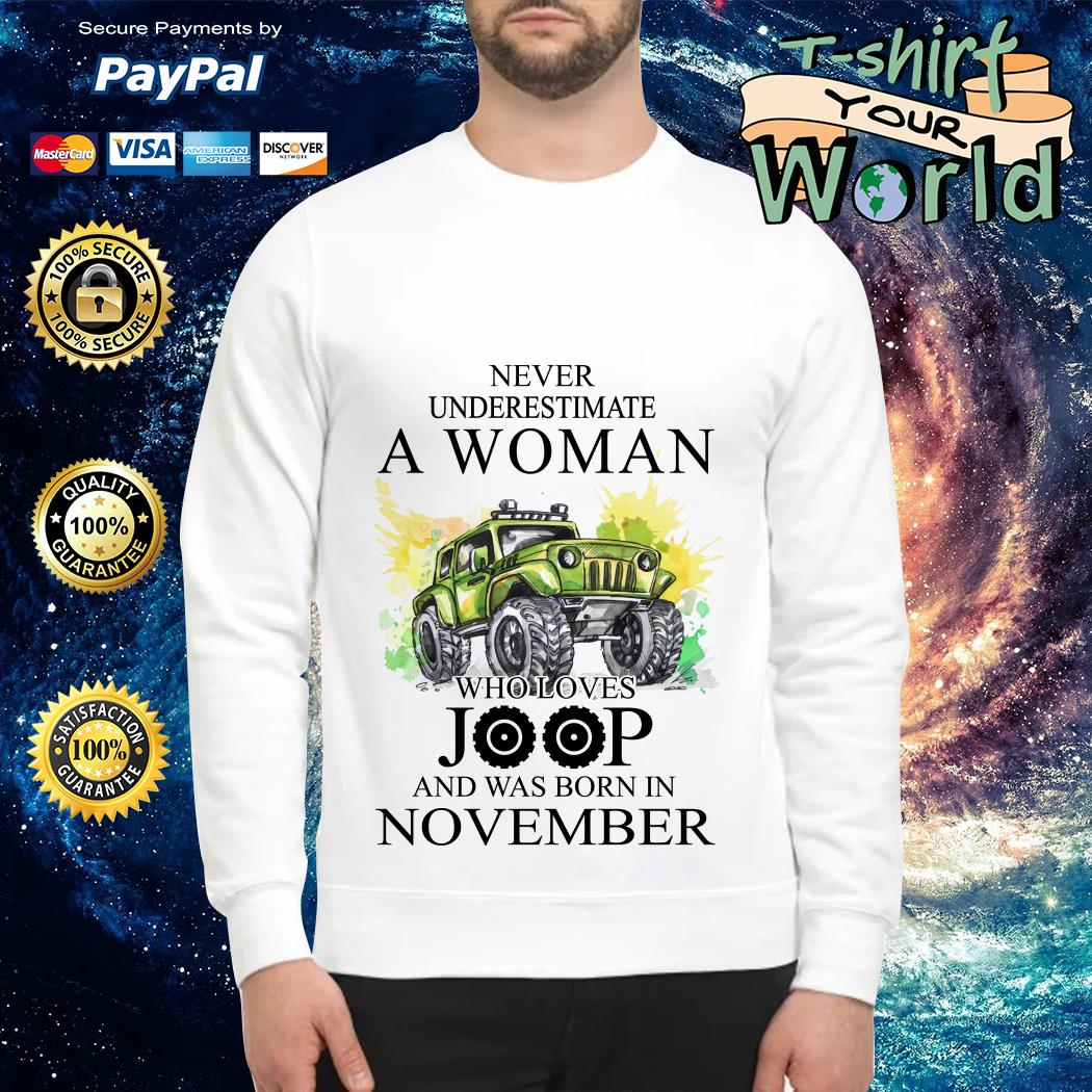 Never Underestimate a Woman Who lover Joop and was born in November Sweater