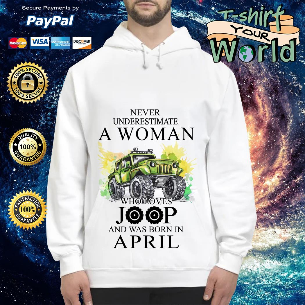 Never Underestimate a Woman Who loves Joop and was Born in April Hoodie