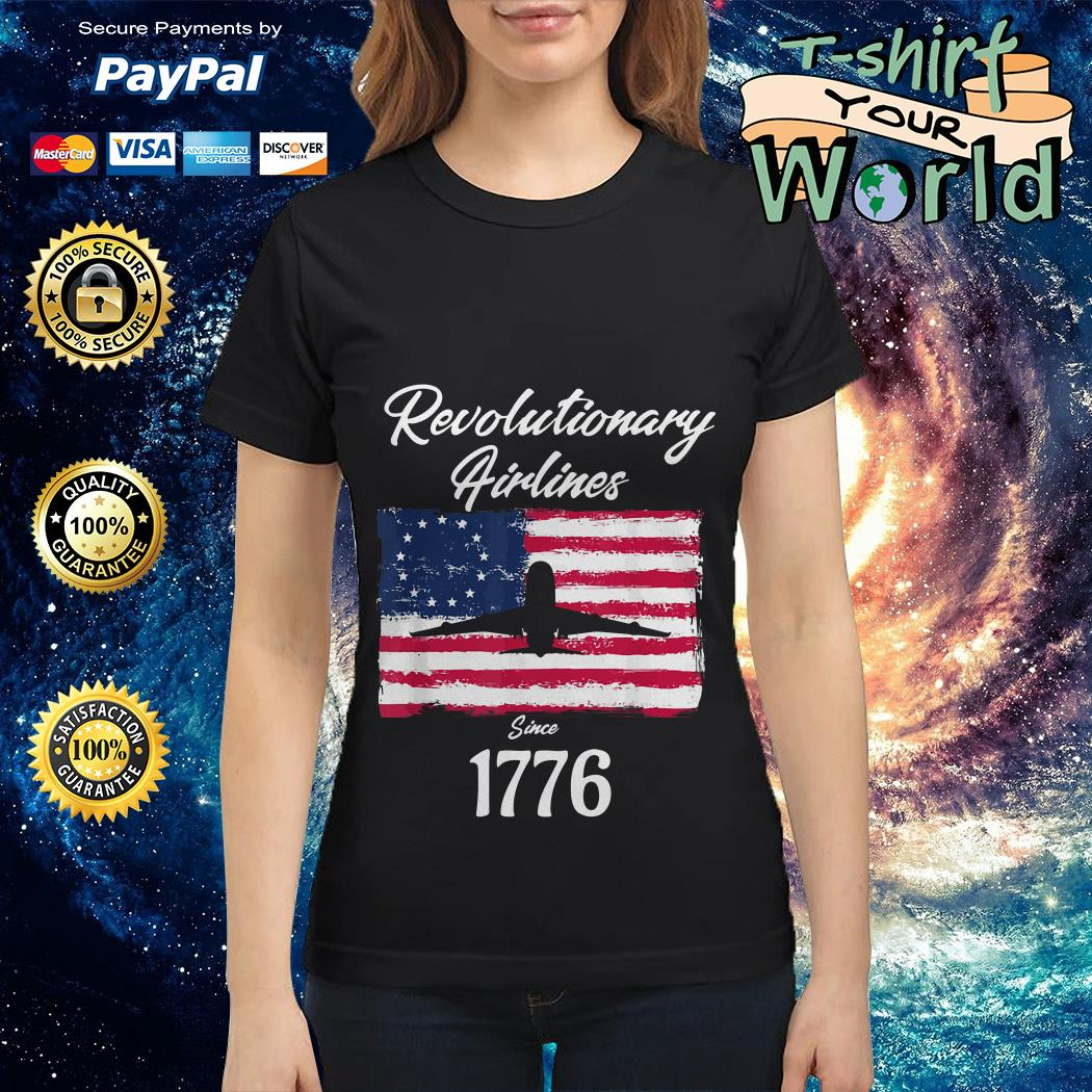 Revolutionary Airlines since 1776 Ladies tee
