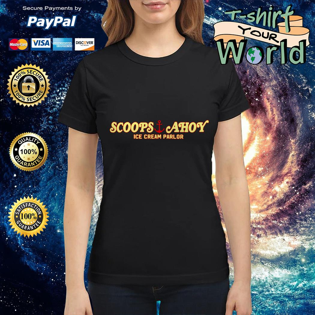 Scoops and Ahoy ice cream parlor Ladies tee