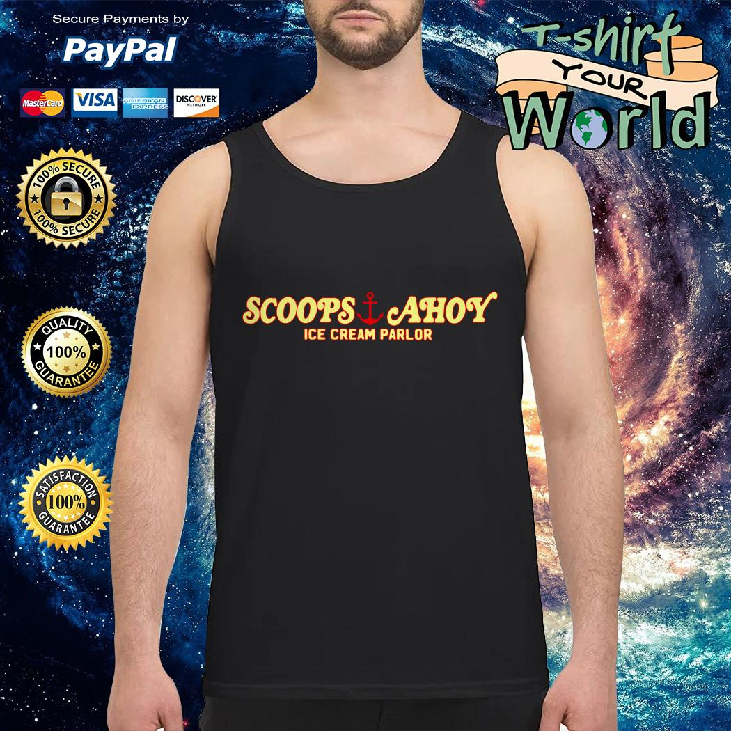 Scoops and Ahoy ice cream parlor tank top
