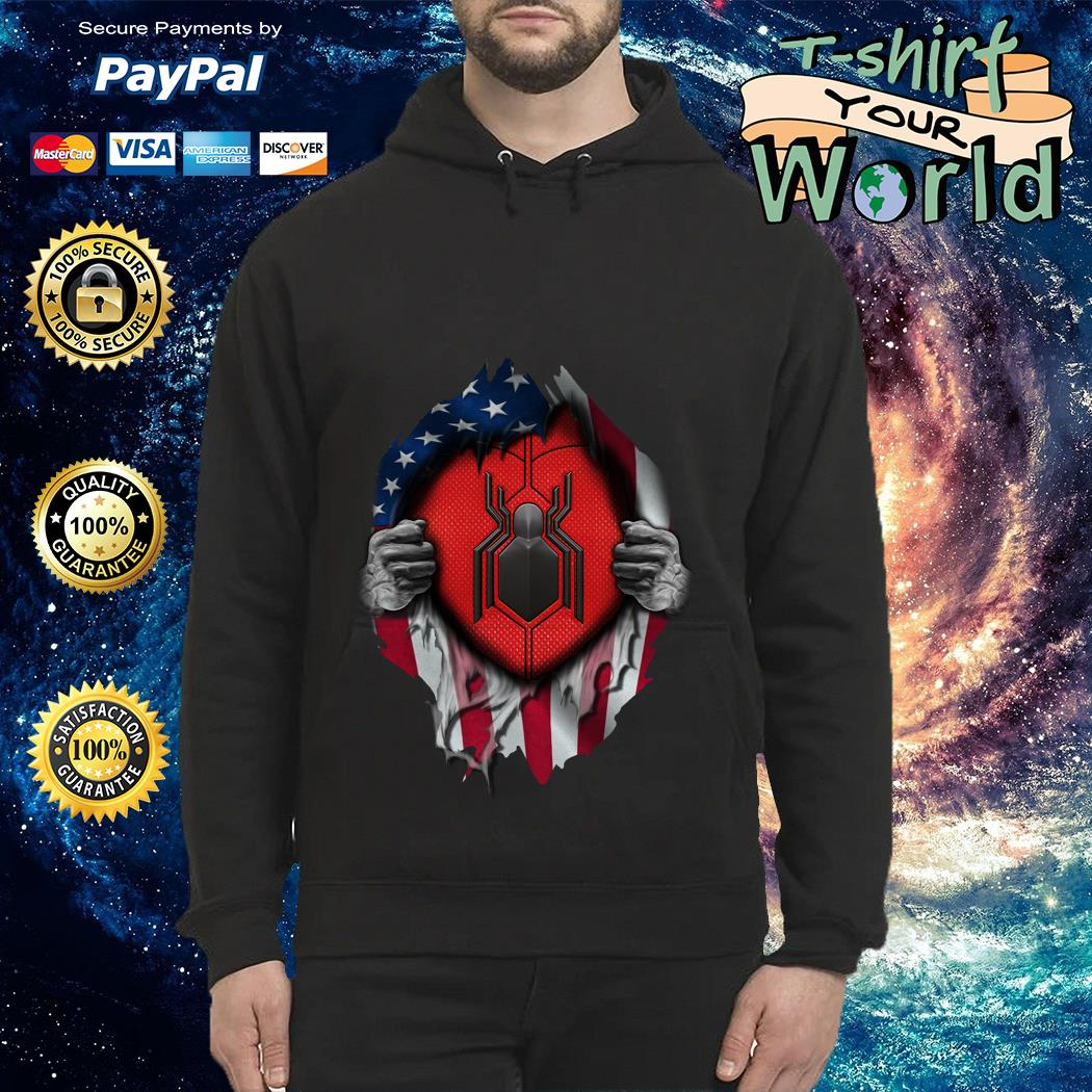 Spide-man far from home American flag in my side Hoodie