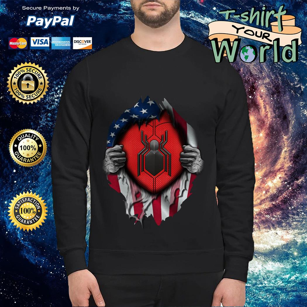 Spide-man far from home American flag in my side Sweater