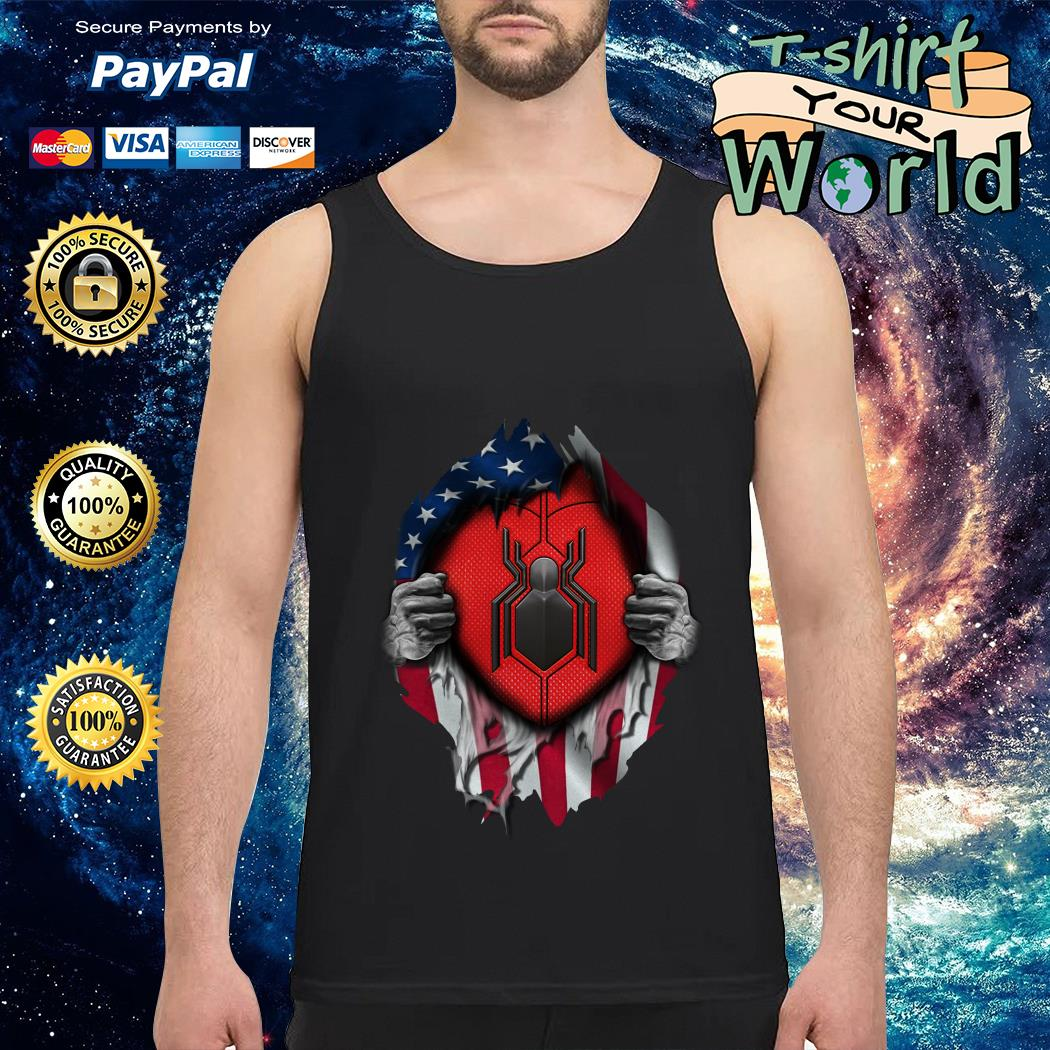 Spide-man far from home American flag in my side Tank top