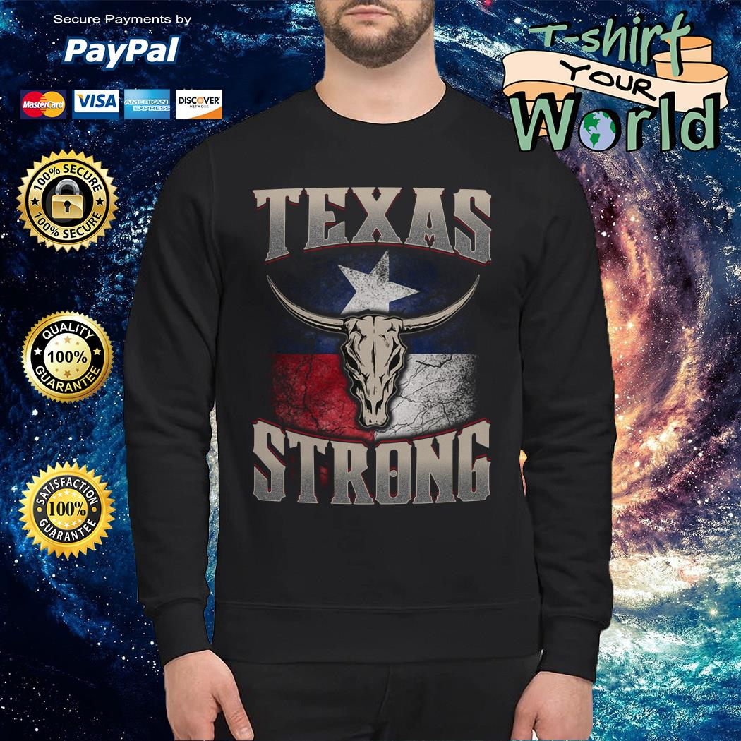 Texas cattle skull strong Sweater