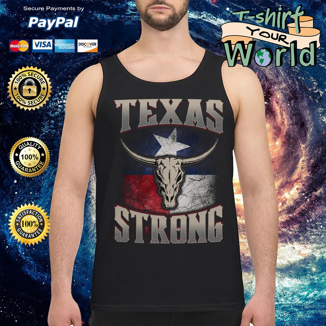 Texas cattle skull strong Tank top