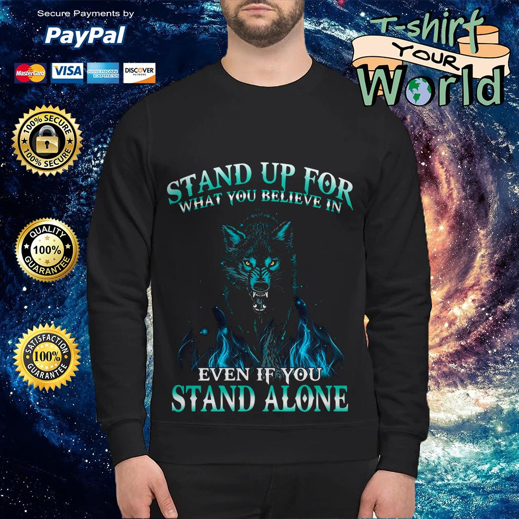 Wolf Stand up for  Stand alone Sweater