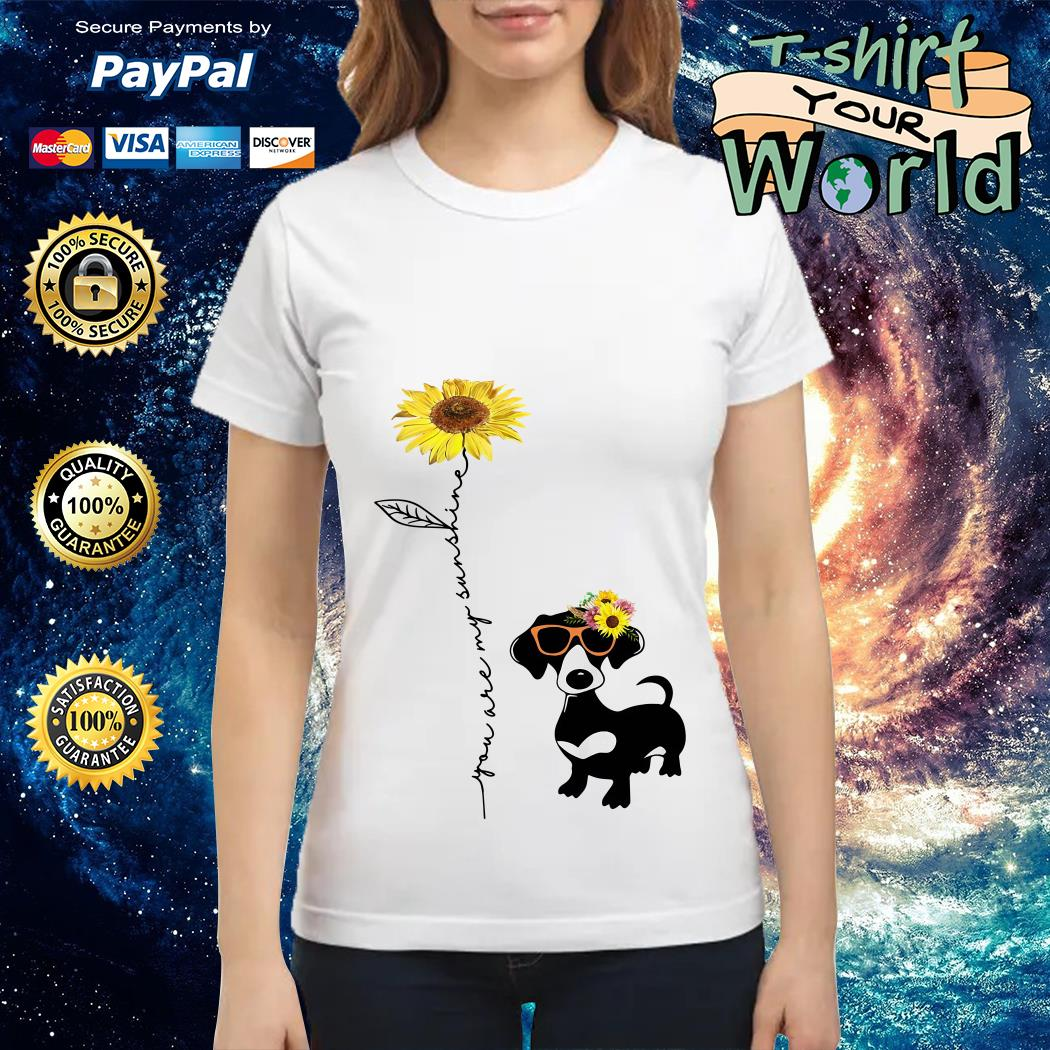 You are my sunshine dachshund sunflower Ladies tee