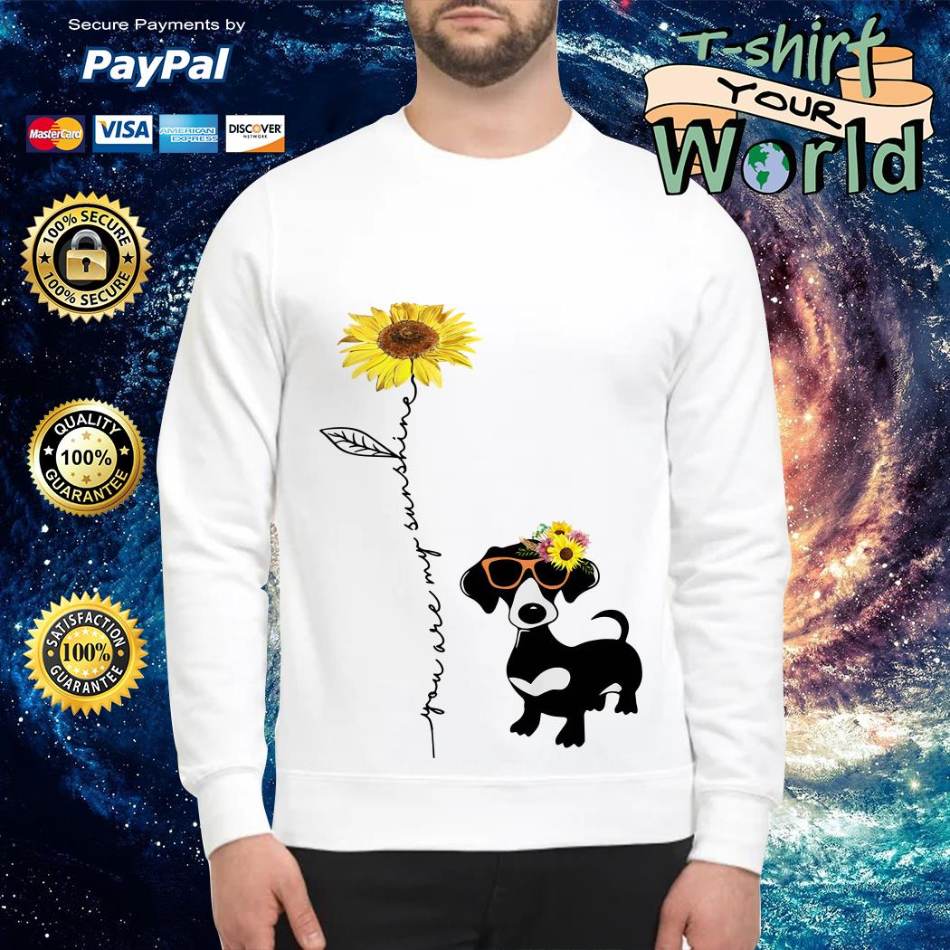 You are my sunshine dachshund sunflower Sweater