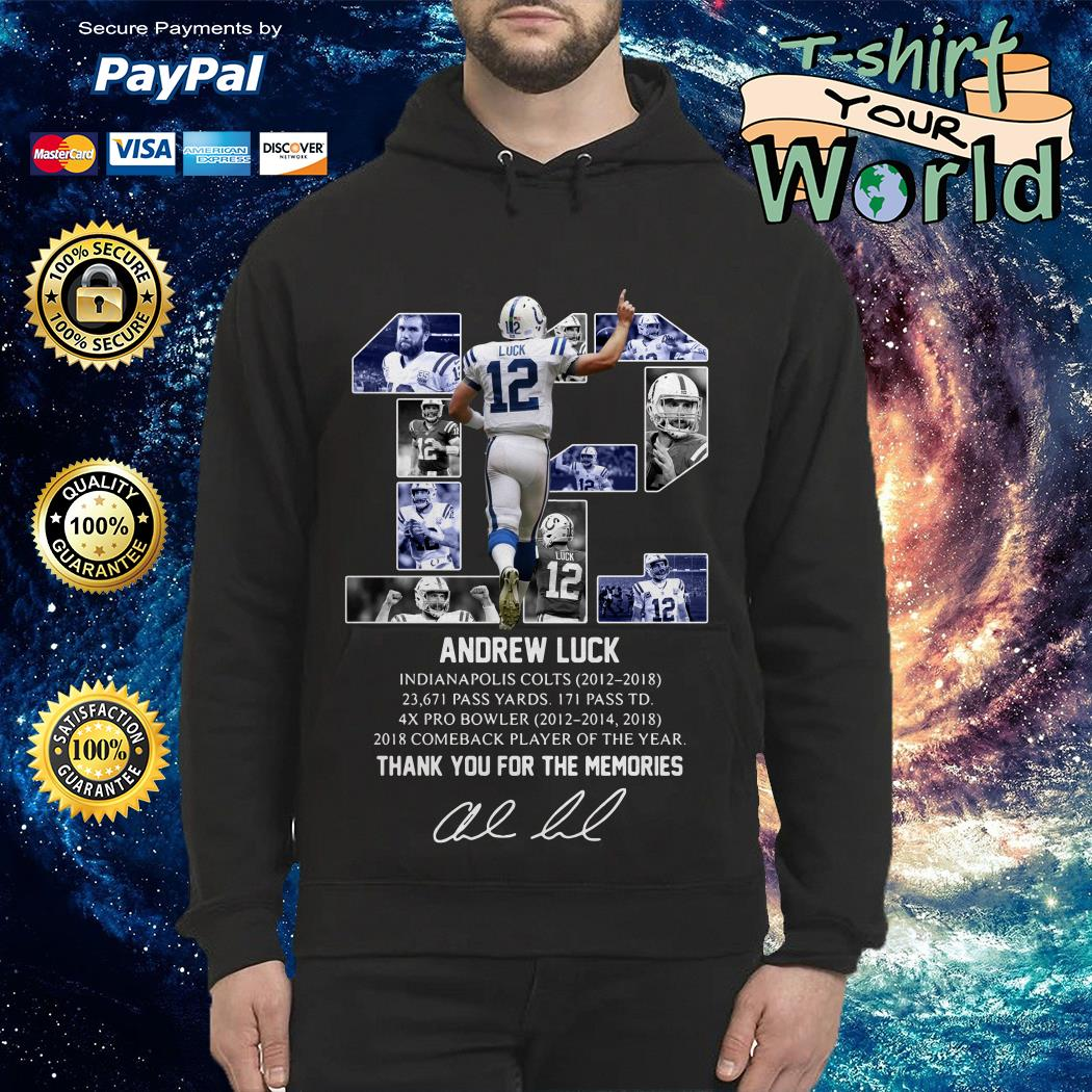 12 Andrew luck thank you for the memories signature Hoodie