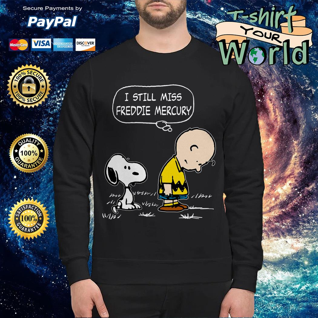 Charlie Brown and Snoopy I still miss Freddie Mercury Sweater