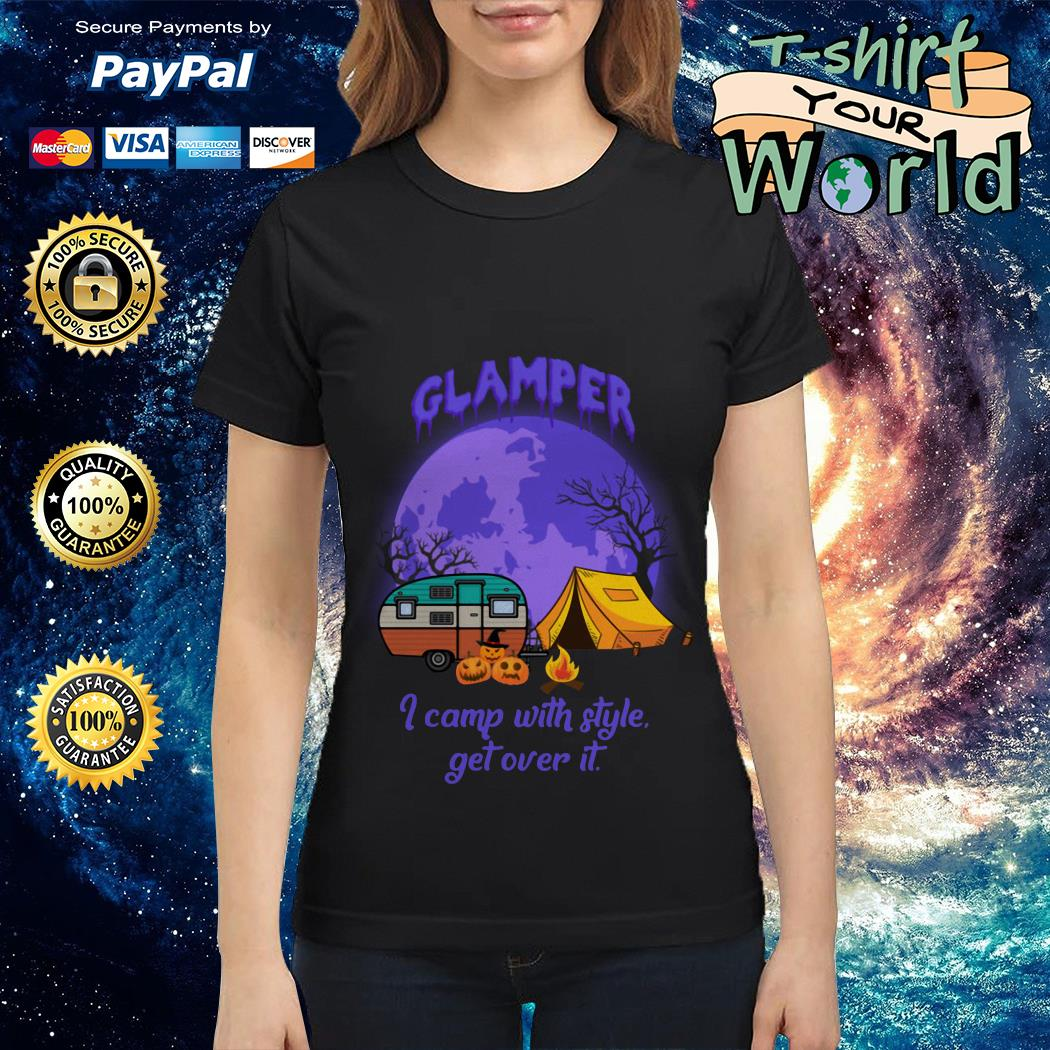 Glamper I camp with style get over It Halloween Ladies tee