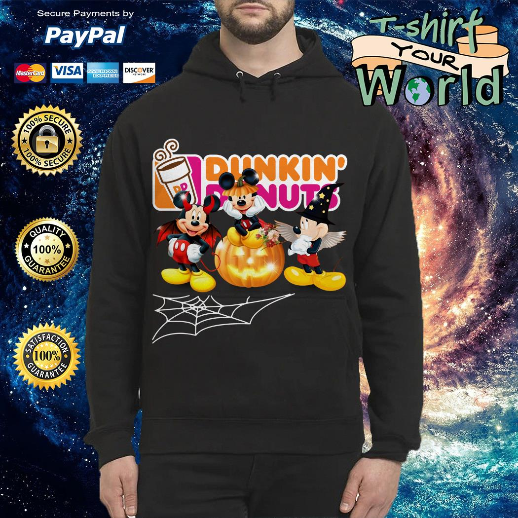 Halloween Dunkin Donuts Mickey Mouse Hoodie