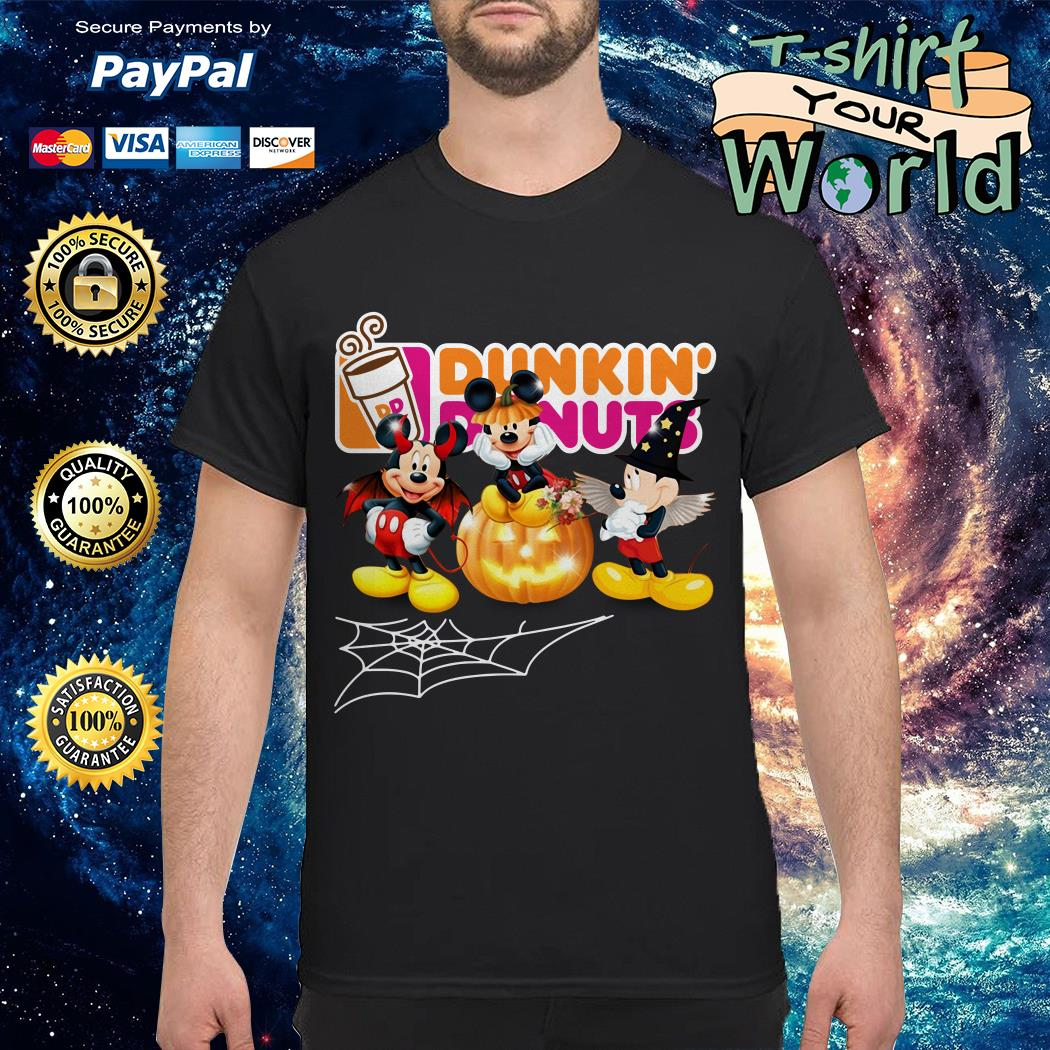 Halloween Dunkin Donuts Mickey Mouse shirt