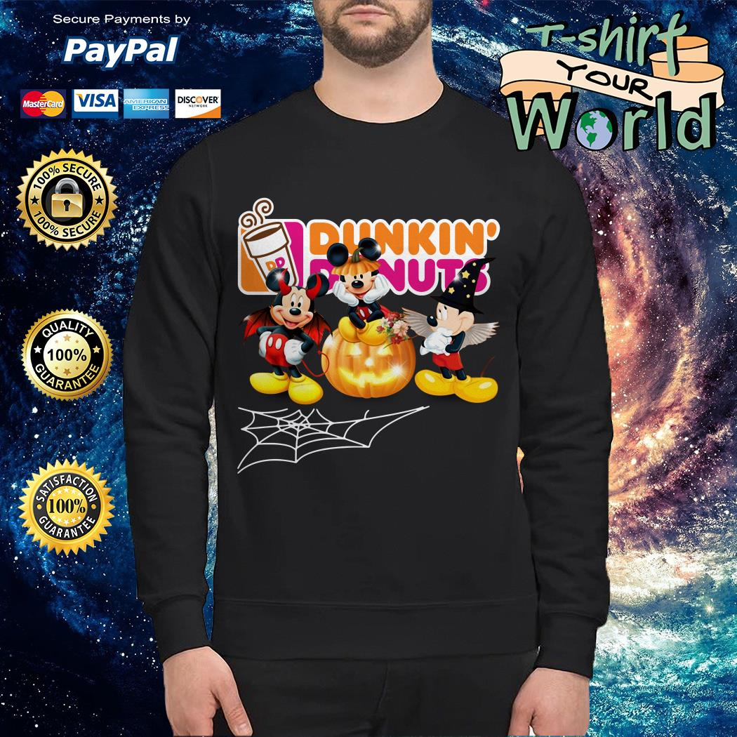 Halloween Dunkin Donuts Mickey Mouse Sweater