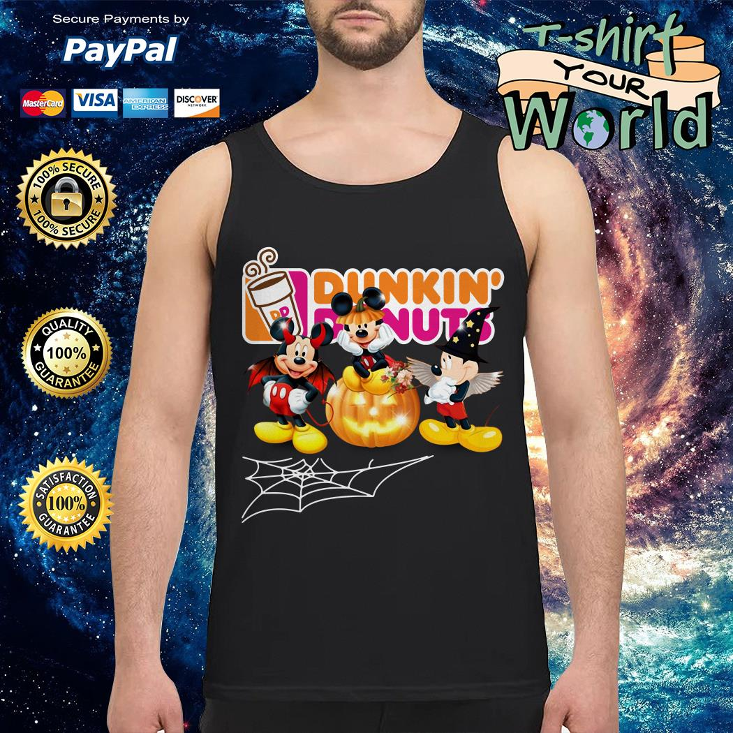 Halloween Dunkin Donuts Mickey Mouse Tank top