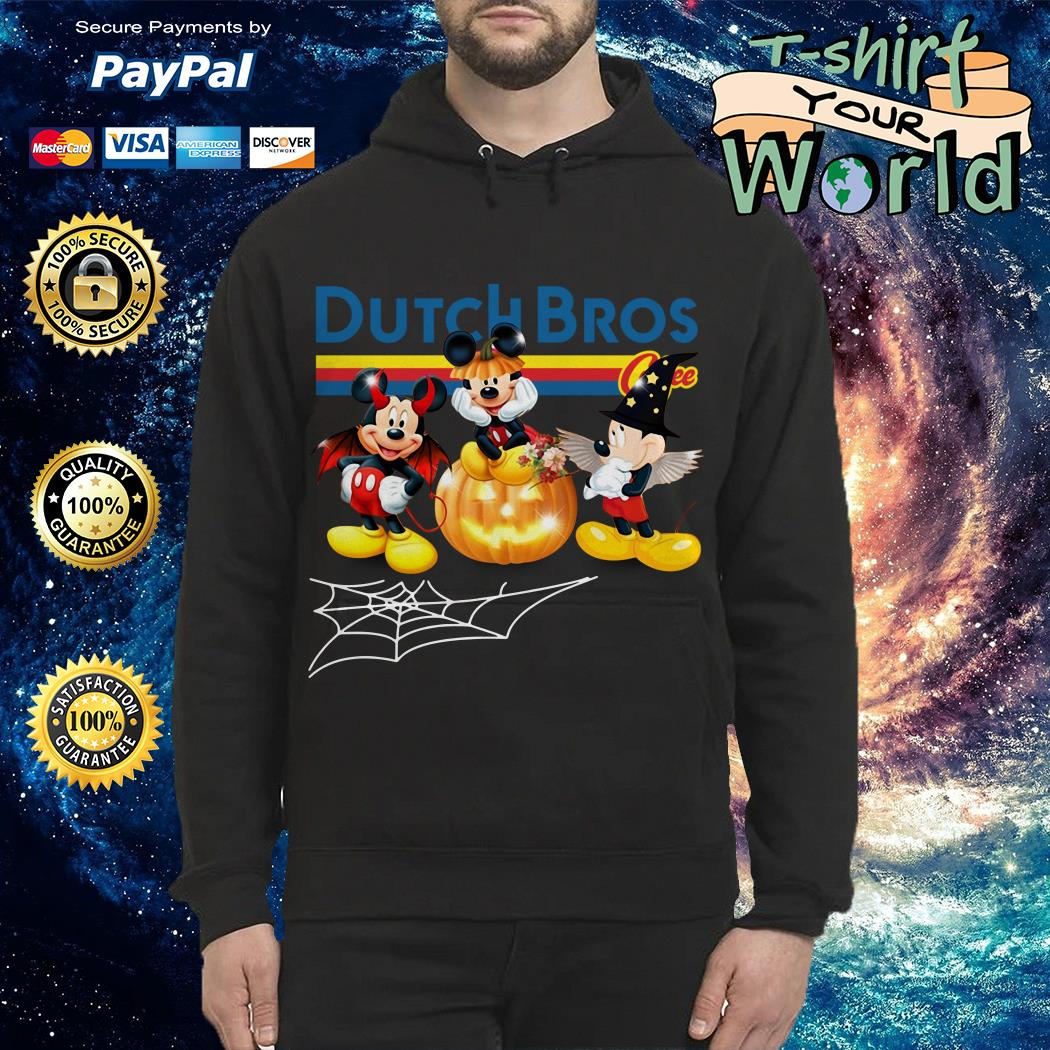 Halloween Dutch Bros Mickey Mouse Hoodie