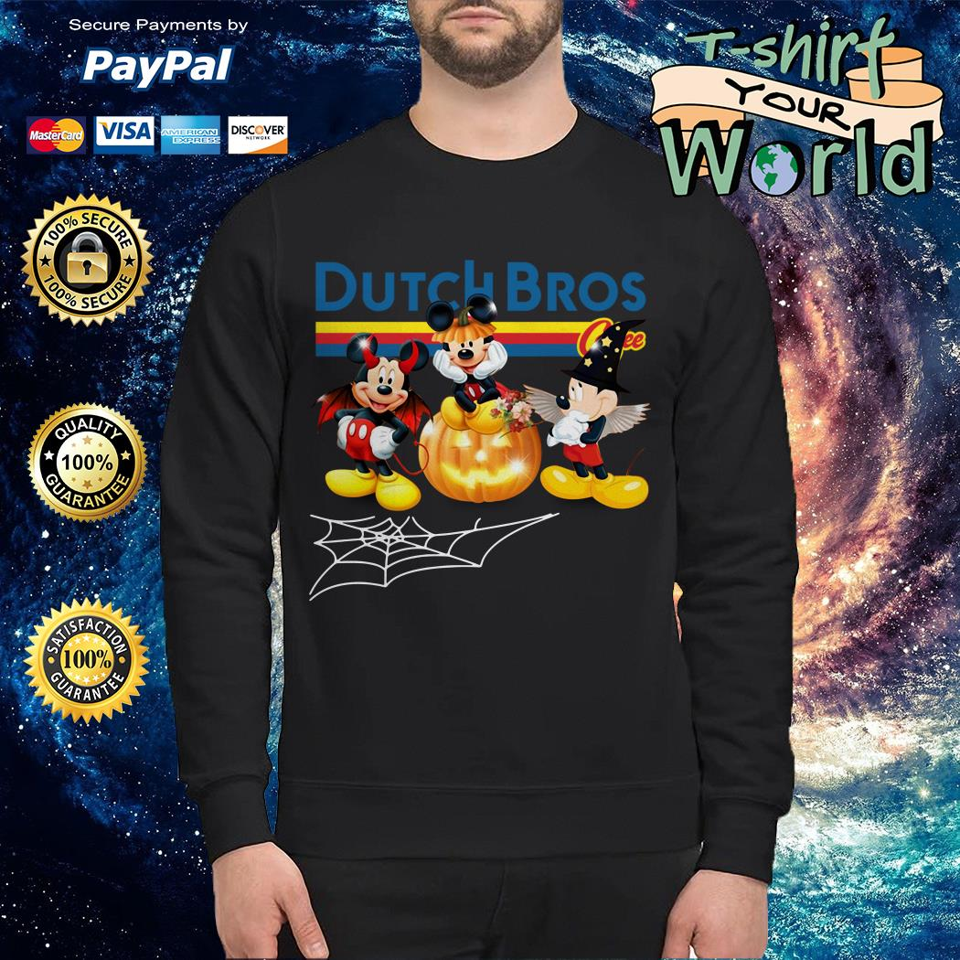 Halloween Dutch Bros Mickey Mouse Sweater
