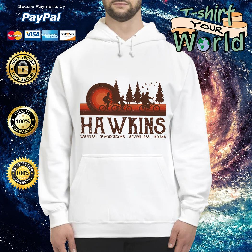 Hawkins Waffles Demogorgons Adventures Indiana Stranger Things Hoodie