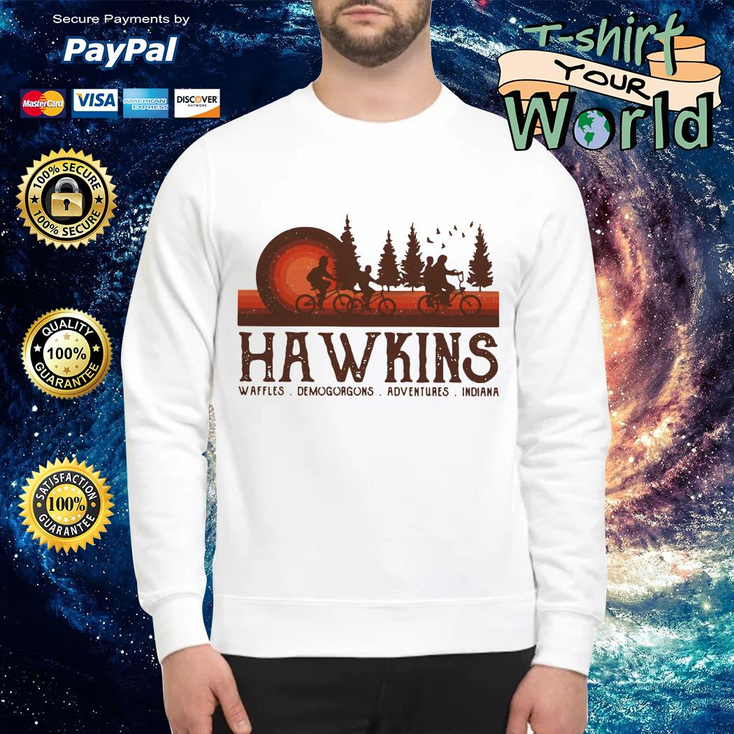 Hawkins Waffles Demogorgons Adventures Indiana Stranger Things Sweater