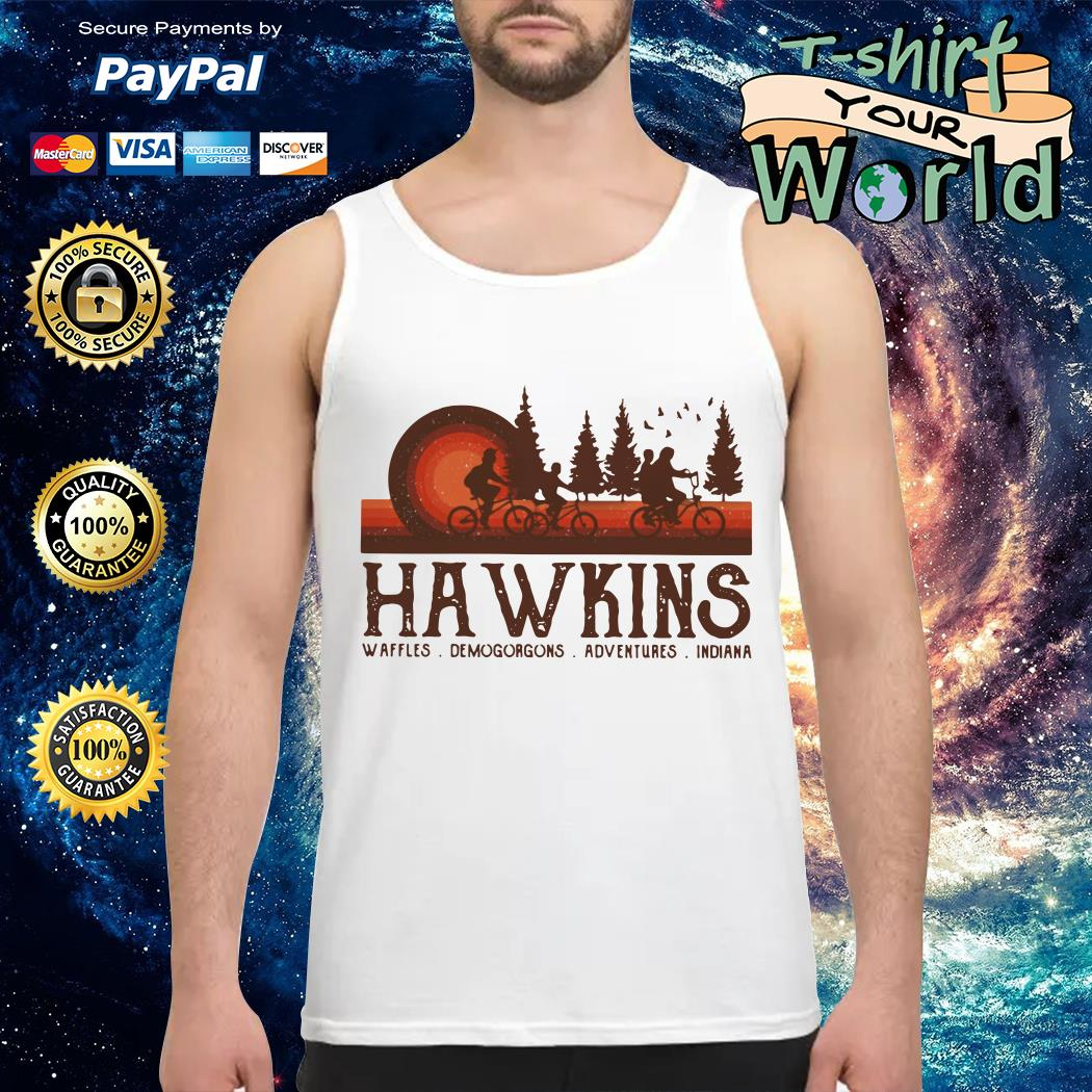 Hawkins Waffles Demogorgons Adventures Indiana Stranger Things Tank top