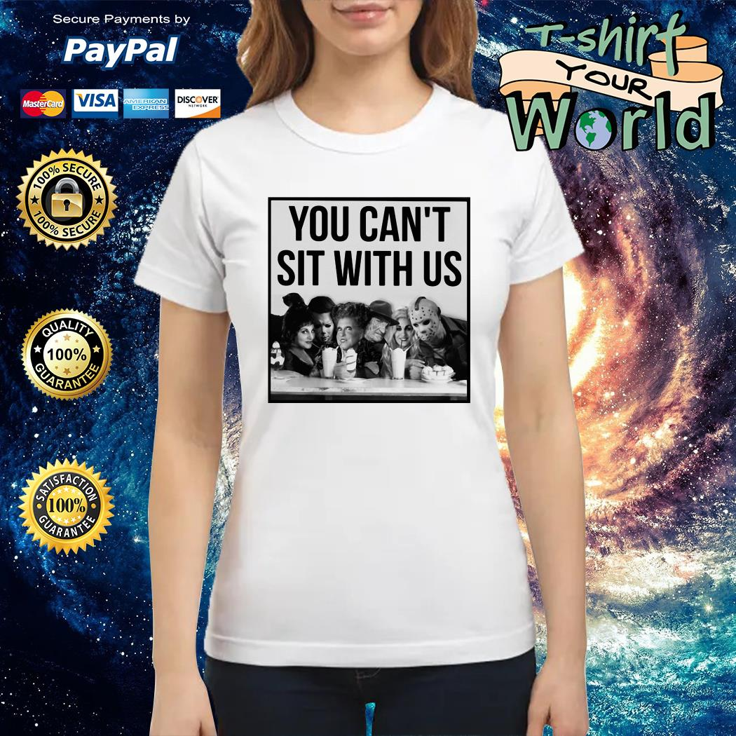 Horror Movie and Hocus Pocus you can't sit with us Halloween Ladies tee