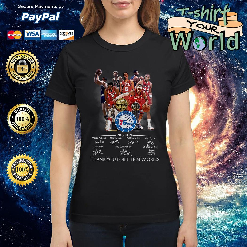 Philadelphia 76ers 1946 2019 thank you for the memories shirt