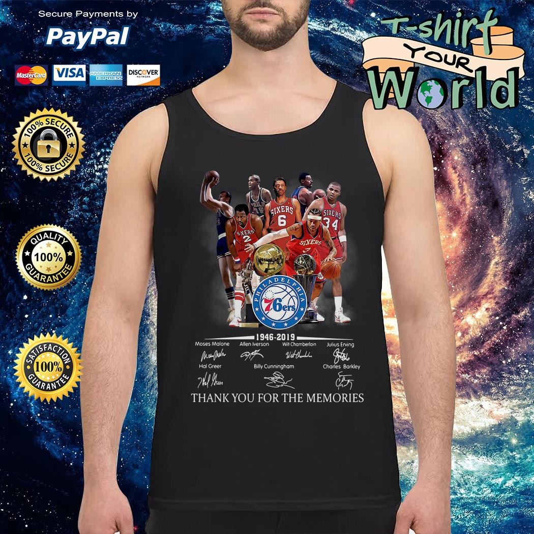 Philadelphia 76ers 1946 2019 thank you for the memories Tank top